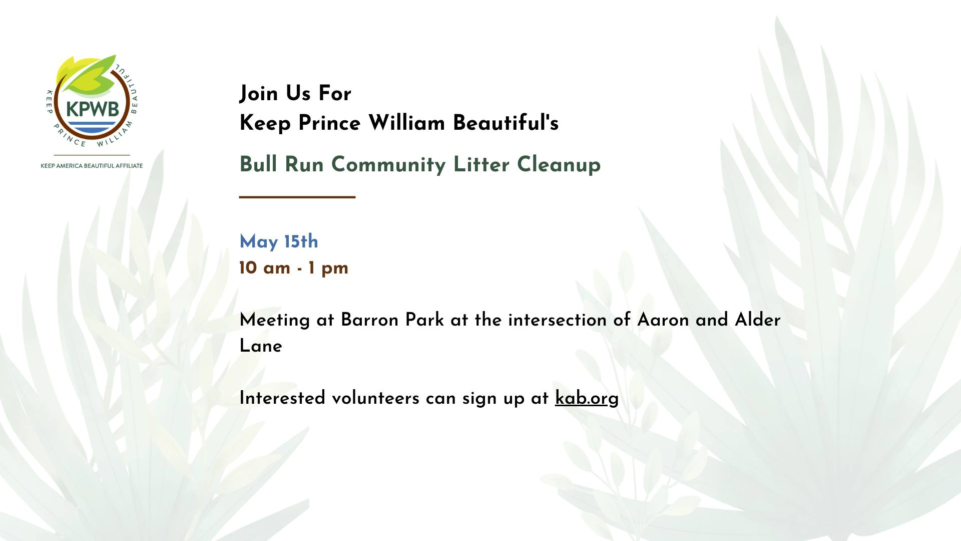 Bull Run Cleanup May 2021 - Events