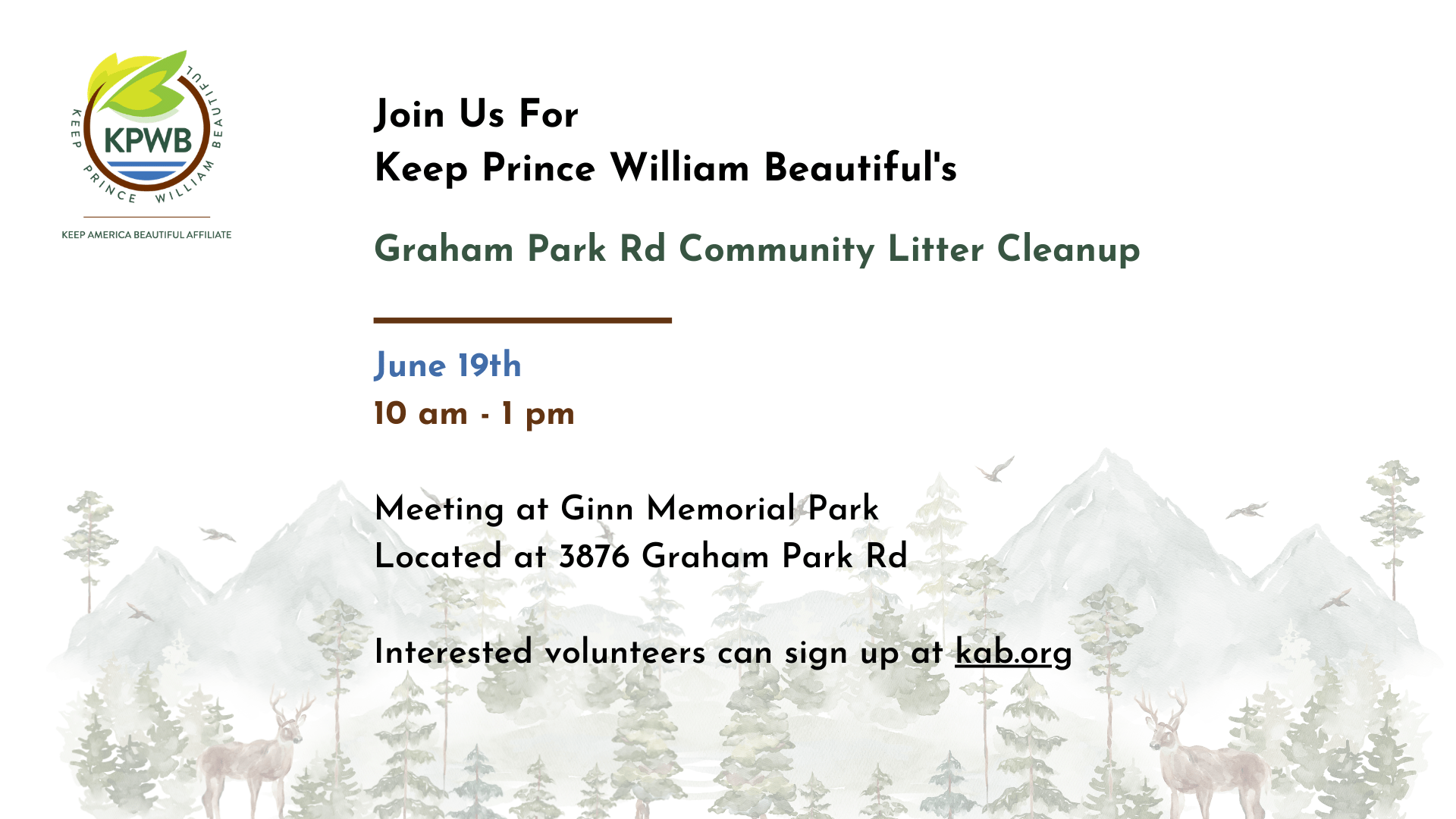 Copy of May Community Cleanup 1 - Events