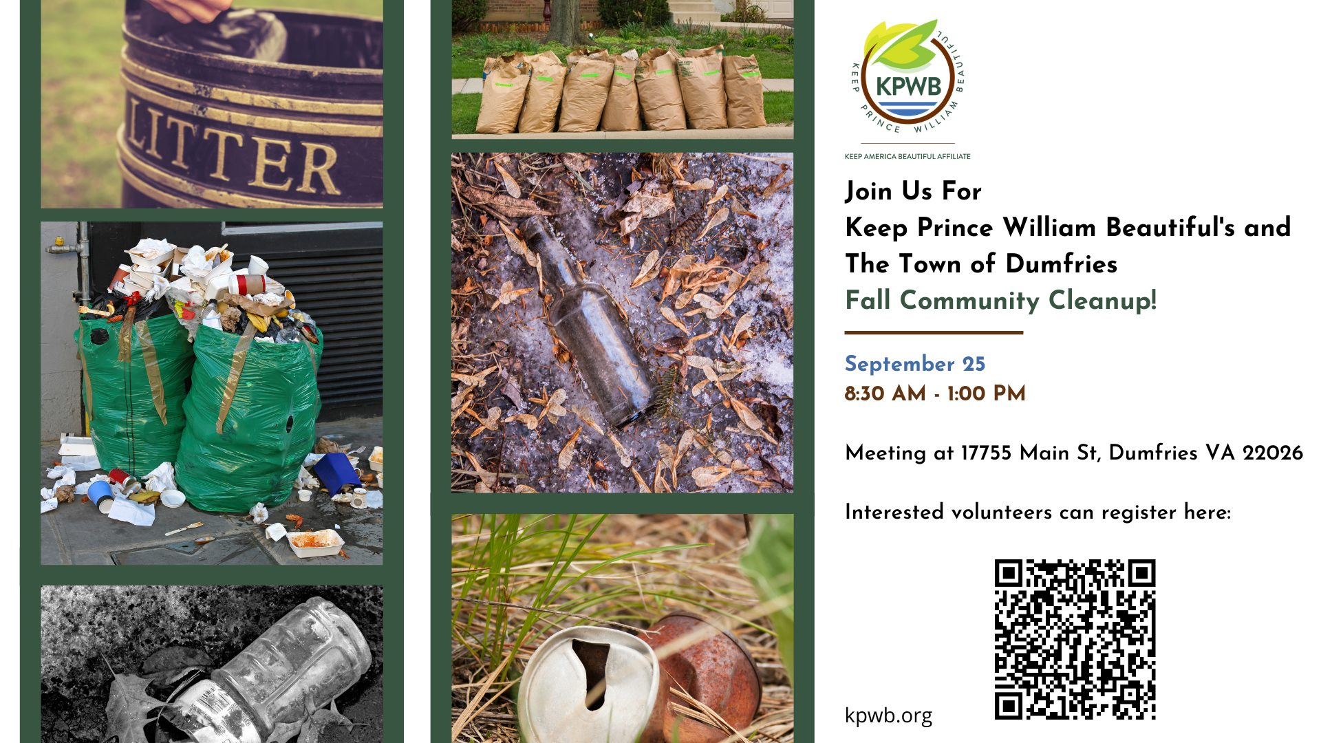 Dumfries Sept cleanup - Events