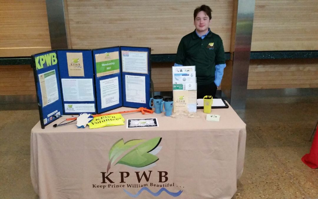 Pictured is volunteer, Nicholas DeFilippis, after setting up our booth at 8:00am